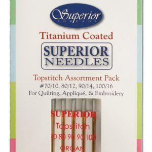 Superior Topstitch Machine Needles Assorted Sizes