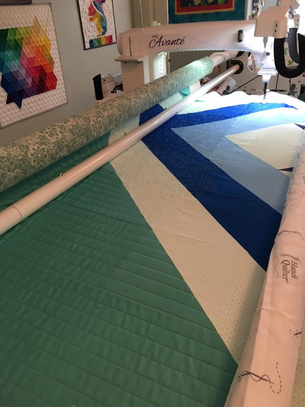 The quilting process.
