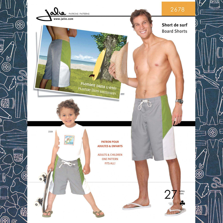 953befe8a6ea Jalie 2678 Men's Board Shorts Pattern - The Confident Stitch