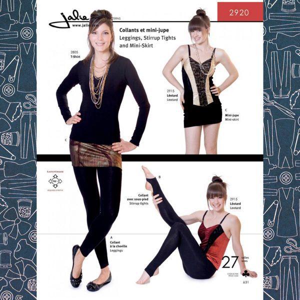 2920 Leggings and Mini-Skirt