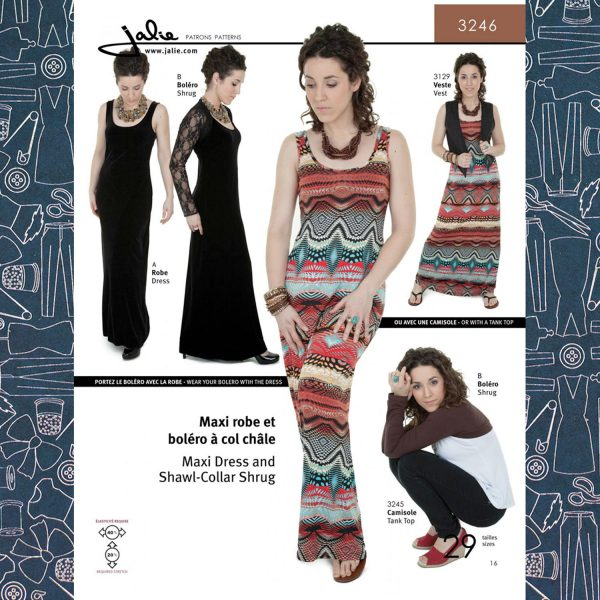 3246 Maxi Dress and Shrug