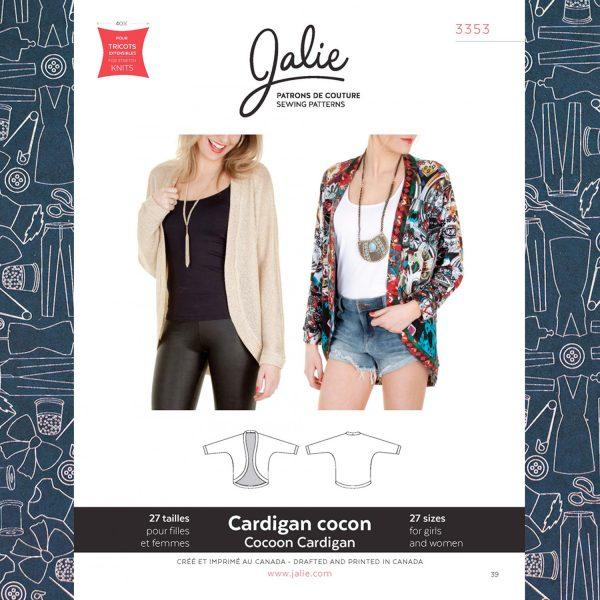 3353 Cocoon Cardigan Pattern