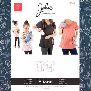 3882 Eliane Scrub Top