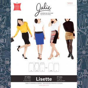 3883 Lisette Pull-On Pencil Skirt