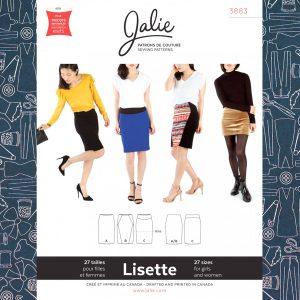 3883 Lisette Pull-On Pencil Skirt