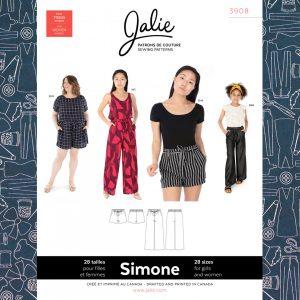 3908 Simone Wide-Leg Shorts and Pants