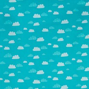Summer Clouds QC in Sky Aqua