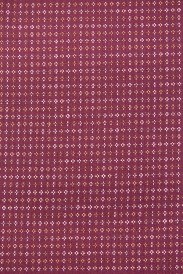 Squarestitch Cotton in Maroon