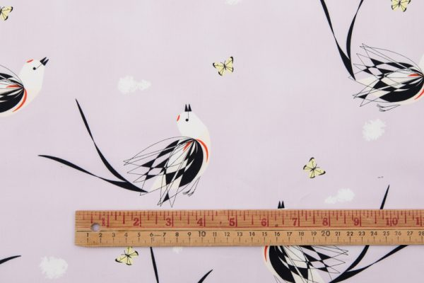 Birch Organic Scissor-Tailed Flycatcher Poplin in Pink