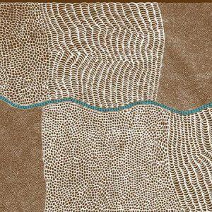 Aboriginal Bush Onion Dreaming QC in Brown