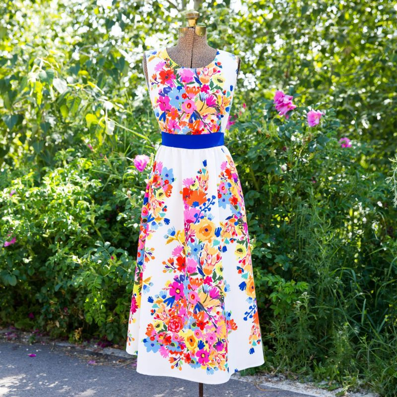 Butterick 6051 in Cady Floral