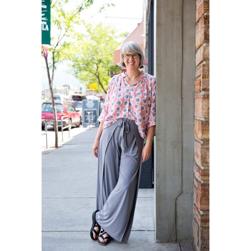 Kate in Her Christine Jonson Wrap Pants