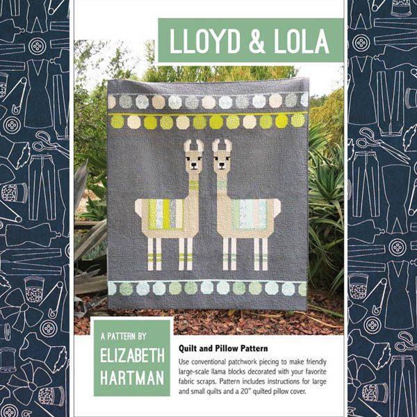 Lloyd and Lola Llama Quilt Pattern