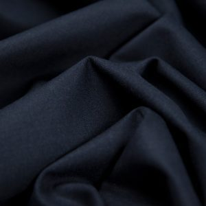 Italian Stretch Wool Twill Suiting in Navy