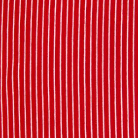 Designer Rayon Jersey Knit in Red and White Stripes