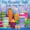 Fat Quarter Sale