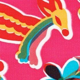 Oilcloth in Animal Wonderland Pink