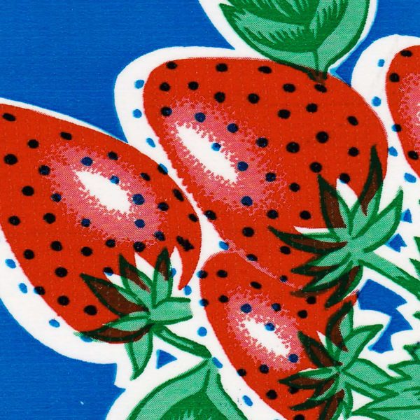Oilcloth in Strawberries Blue