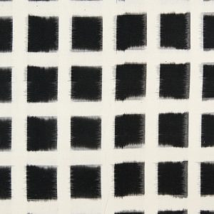 Ikat Woven Canvas in Black and White