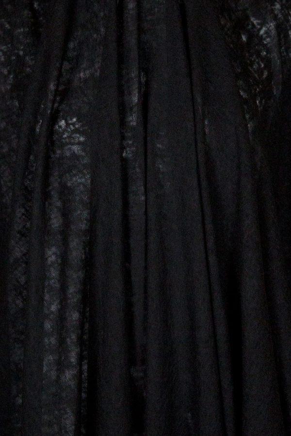 Designer Sheer Wool Knit in Black