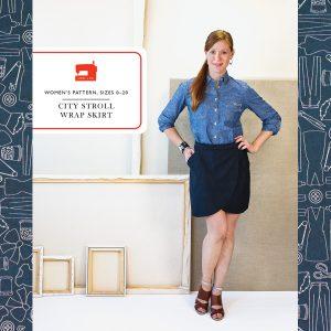 City Stroll Wrap Skirt