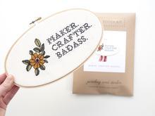 JD Maker Crafter Badass Cross Stitch Kit