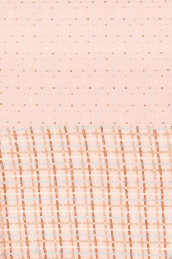 Embroidered Squares in Light Pink
