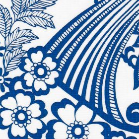 Oilcloth in Blue Toile
