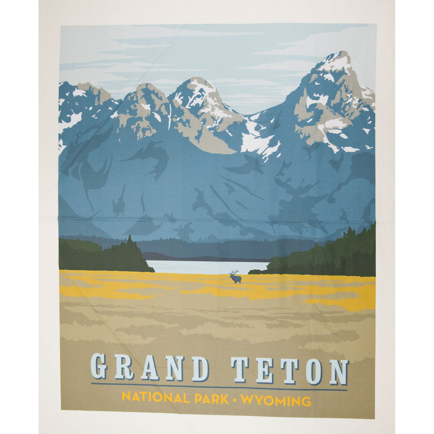 National Park Poster Panel Grand Teton 36 X 44 The Confident Stitch