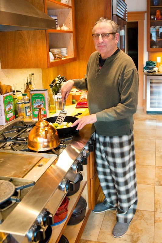 Kate's husband Fred looking stately (and comfy!) in his new pair of Palmer/Pletsh Pajama Bottoms!