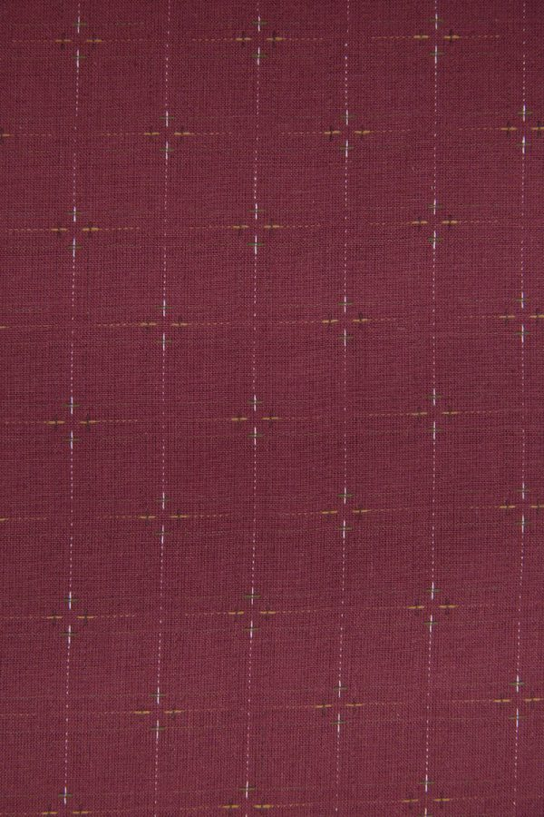 Primitive Rustic Cotton in Dusty Red