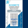 Schmetz Chrome Carded Universal Needles in Size 90/14