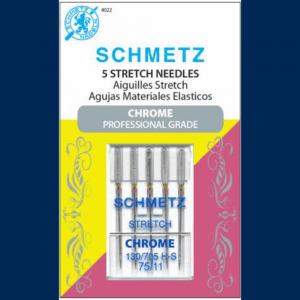 Schmetz 75/11 Chrome Stretch Carded Needle