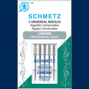 Schmetz Chrome Carded Universal Needles in Size 70/10