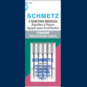 Chrome Quilting Schmetz Needle 5 ct, Size 75/11