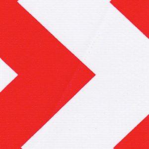 Oilcloth in Chevron Red