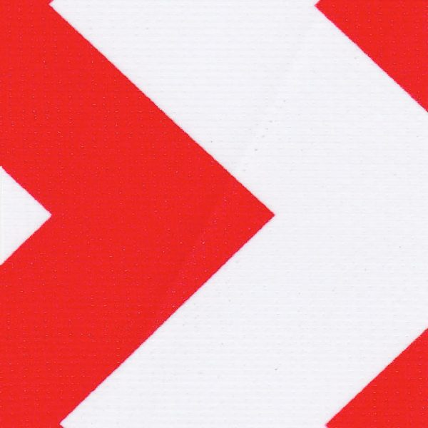 Oilcloth in Chevron Red