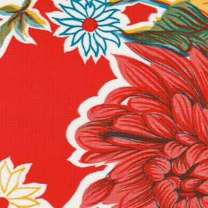 Oilcloth in Mum Red