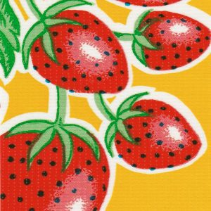 Oilcloth in Strawberry Yellow