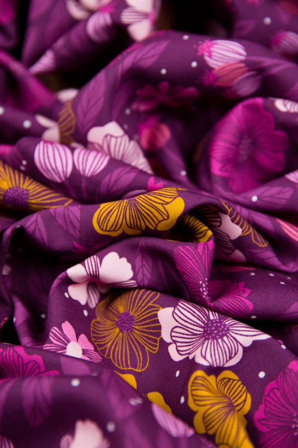 Figo Sangria Flowers Rayon in Pink