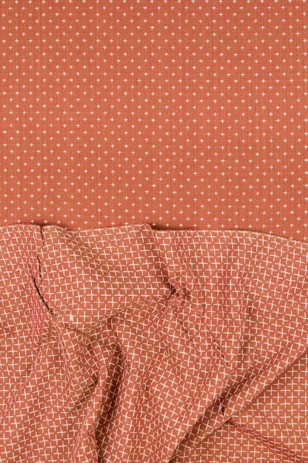Homespun Squarestitch Cotton in Rust