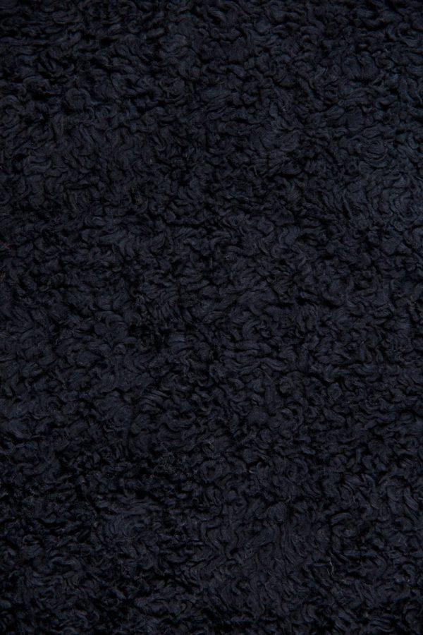 Black Cotton Sherpa