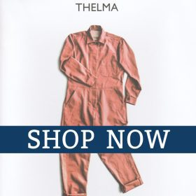 Shop Now icon for the Merchant and Mills Thelma Boilersuit