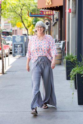 Walking in my Flowy Wrap Pants