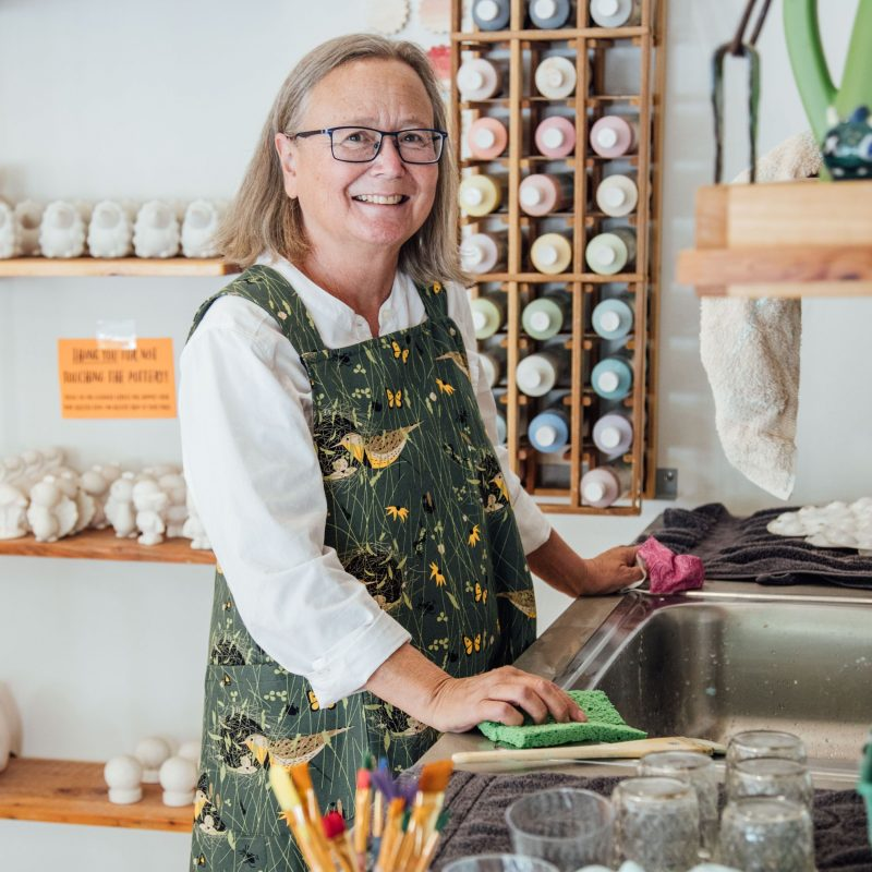 The Zootown Arts Community Center let me test out my new apron in their Paint-Your-Own-Pottery Studio!