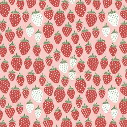 Cotton + Steel Strawberry Fields QC in Pink