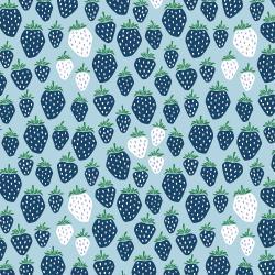 Cotton + Steel Strawberry Fields QC in Blue