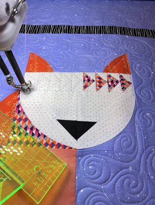 Quilting the Posh Kitty Quilt