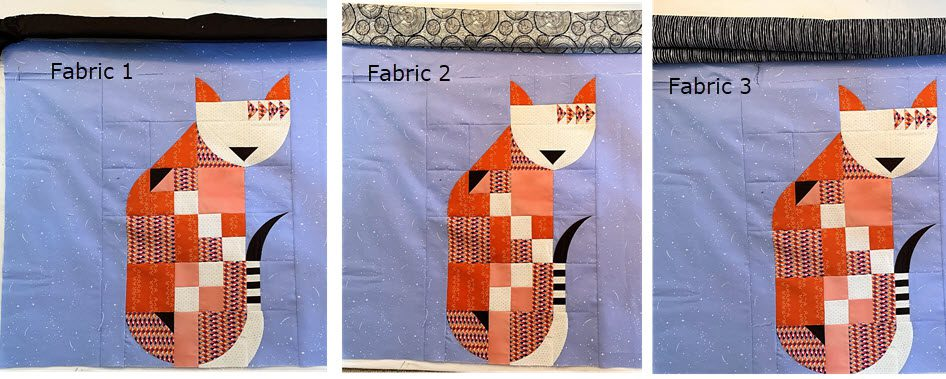 Posh Kitty Sashing Fabric Options