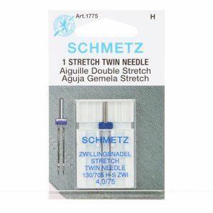 Schmetz 4.0 mm Twin Stretch Needle in Size 75